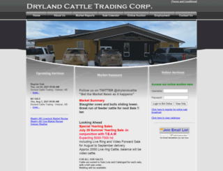 drylandcattle.com screenshot