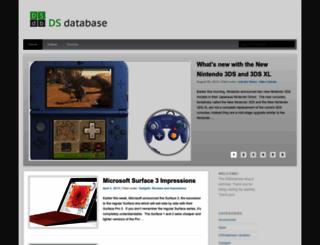 dsdatabase.org screenshot