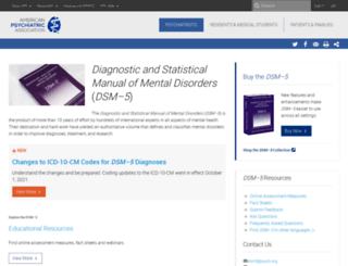 dsm5.org screenshot