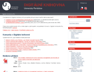 dspace2.upce.cz screenshot