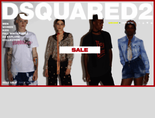 dsquared2.com screenshot