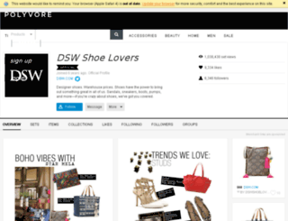 dswshoelovers.polyvore.com screenshot