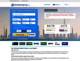 dubai.rentalcargroup.com screenshot