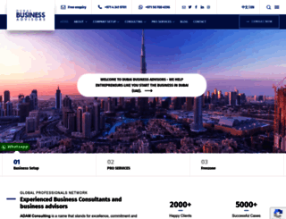 dubaibusinessadvisors.com screenshot