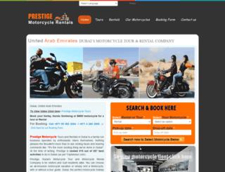 dubaimotorcycletours.com screenshot