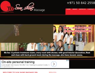 dubaisunshinemassage.com screenshot