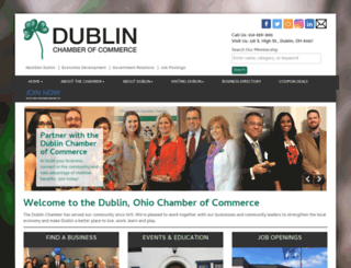 dublinchamber.org screenshot