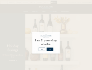 duckhornwineshop.com screenshot