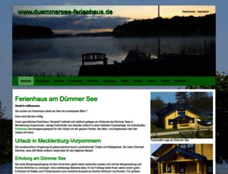 duemmersee-ferienhaus.de screenshot