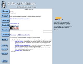 dukeofdefinition.com screenshot