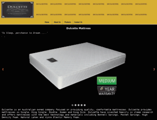 dulcettemattress.com.au screenshot