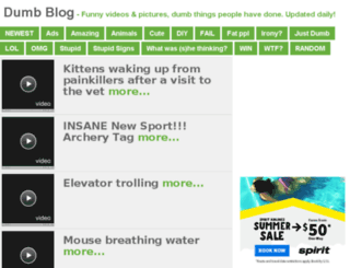 dumbblog.com screenshot