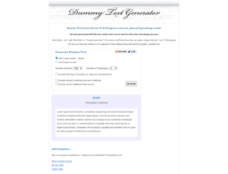 dummytextgenerator.com screenshot