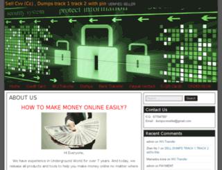 dumpscvvseller.com screenshot
