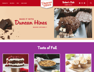 duncanhines.ca screenshot