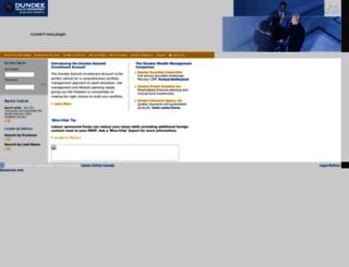 dundeewealth.com screenshot