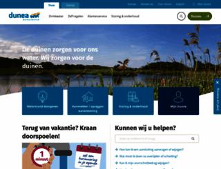 dunea.nl screenshot