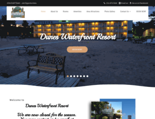 duneswaterfrontresort.com screenshot