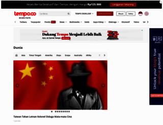 dunia.tempo.co screenshot