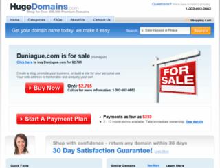 duniague.com screenshot