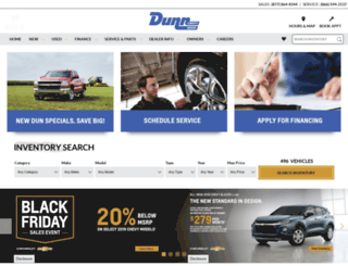 dunnchevy.com screenshot