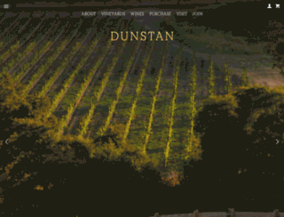 dunstanwines.com screenshot