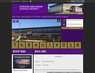 durand.k12.wi.us screenshot