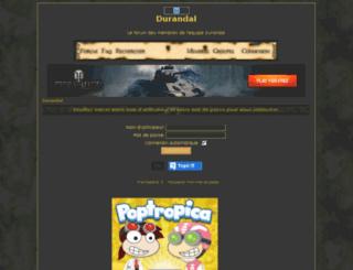 durandal.forumactif.biz screenshot