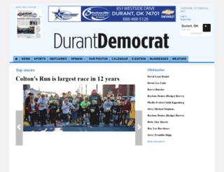 durantdemocrat.com screenshot