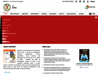 durg.gov.in screenshot