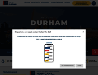 durhamnc.gov screenshot