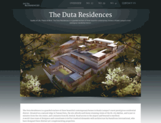 dutaresidences.com screenshot