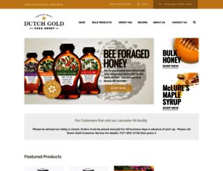 dutchgoldhoney.com screenshot