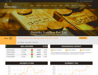 dwarikajewellers.com screenshot
