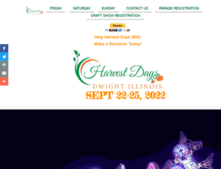 dwightharvestdays.org screenshot
