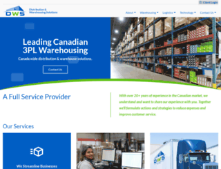 dwslogistics.com screenshot