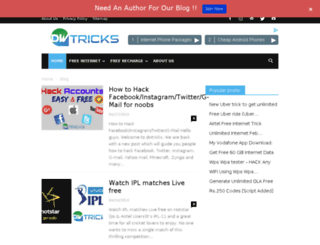 dwtricks.com screenshot