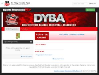 dyba.sportssignupapp.com screenshot