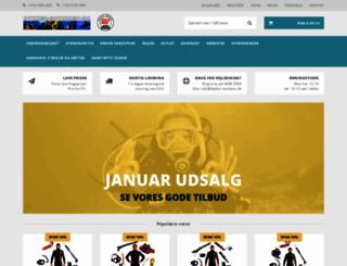 dykker-butikken.dk screenshot