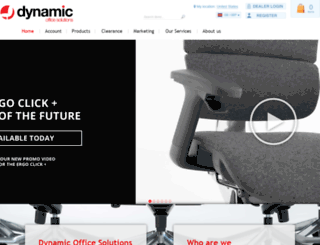 dynamicofficeseating.co.uk screenshot