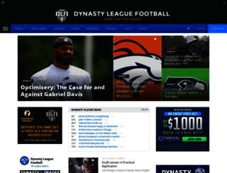 dynastyleaguefootball.com screenshot