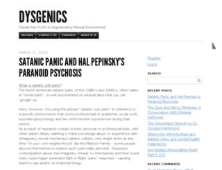 dysgenics.com screenshot