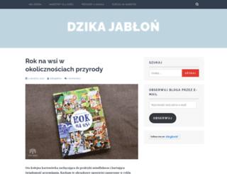 dzikajablon.wordpress.com screenshot