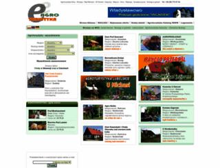 e-agroturystyka.pl screenshot