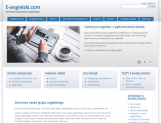e-angielski.com screenshot