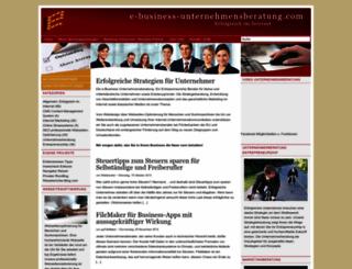 e-business-unternehmensberatung.com screenshot