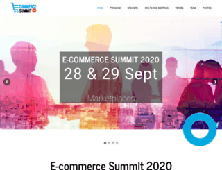 e-commercesummit.com screenshot