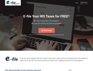 e-file.com screenshot
