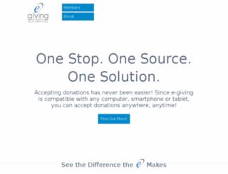 e-giving.org screenshot