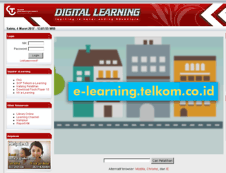 e-learning.telkom.co.id screenshot